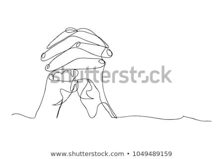 Ikon ima kéz férfi fény háttér Stock fotó © Olena