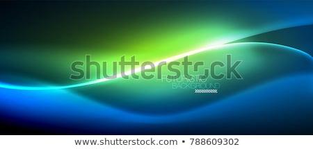 Zöld csillagok képregény rajz pop art retro Stock fotó © rogistok
