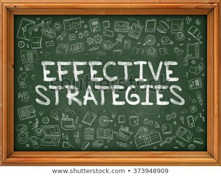 Skuteczny strategie zielone Tablica gryzmolić Zdjęcia stock © tashatuvango