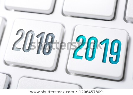 Stock photo: 2018 icon on keyboard #2
