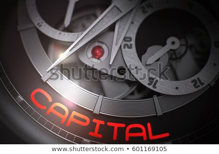 Financials on the Mechanical Wrist Watch Mechanism. 3D. Stock photo © tashatuvango