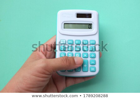 Hand Finger Press Business Education Keypad. Stock photo © tashatuvango