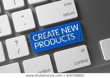 ストックフォト: 青 · 新しい · 製品 · キーパッド · キーボード