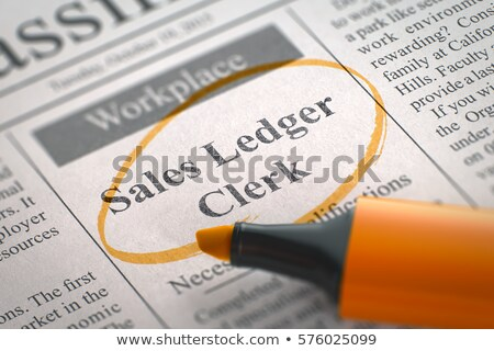 продажи газета колонки Объявления Сток-фото © tashatuvango