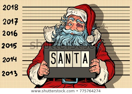 2018 new year, photo funny Santa Claus under arrest Stock photo © rogistok