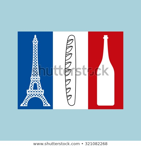 French tricolor Flag of national features of country:  Eiffel T Stock photo © popaukropa