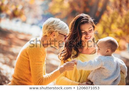 Nagymama anya baba fiú portré bent Stock fotó © IS2