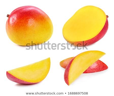新鮮な マンゴー スライス 木材 フルーツ 夏 ストックフォト © M-studio