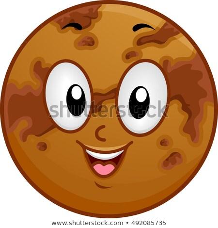 Mascot Planet Venus Dark Spots Stock photo © lenm