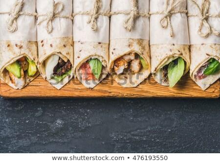 トルティーヤ チーズ 鮭 ランチ 新鮮な ストックフォト © M-studio