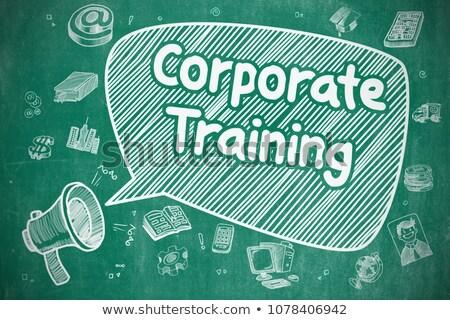 carriere · cartoon · illustratie · Blauw · schoolbord - stockfoto © tashatuvango