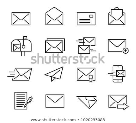 email open envelope Icon. line style vector illustration stock photo © taufik_al_amin