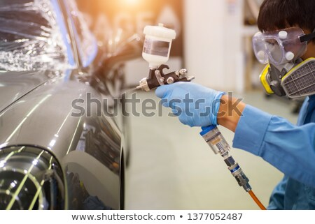 Worker ready to paint a car. Stock photo © IS2