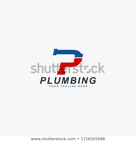 gas pipe and wrench - vector logo Stock photo © djdarkflower