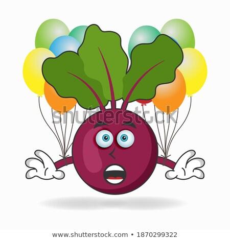 Pourpre ballons mascotte dessinée personnage expressions vecteur Photo stock © hittoon