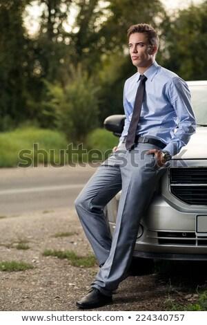 Portrait homme détente voiture jeune homme sourire Photo stock © majdansky