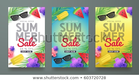 Zomer verkoop lay-out banners behang folders Stockfoto © ikopylov
