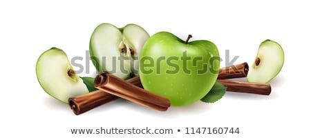 Kaneel groene appel bruin natuur vruchten Stockfoto © ConceptCafe