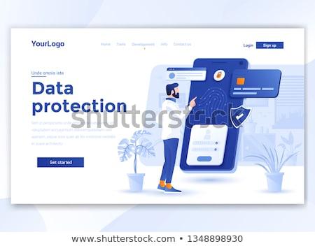 identity concept character   icon on digital background stock photo © tashatuvango