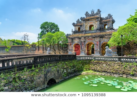 Vietnam, Hue. East entrance gates of the  Imperial City Stock photo © romitasromala