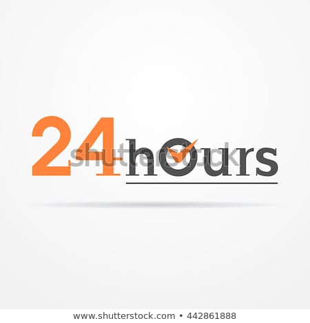 Open 24 Hours retro sign. Stock vector illustration isolated on white background Stock photo © JeksonGraphics
