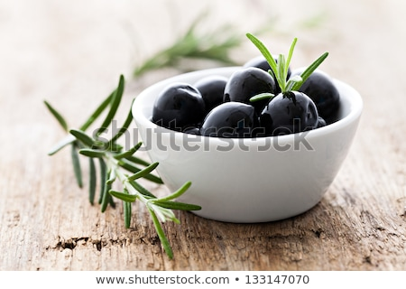 Black Olives With Herbs Stock photo © mpessaris