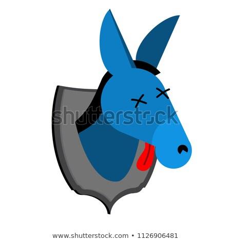 americano · democrata · burro · republicano · elefante · símbolo - foto stock © popaukropa