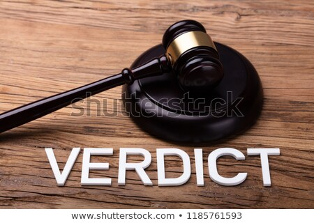 Verdict Text In Front Of Brown Gavel Stock photo © AndreyPopov