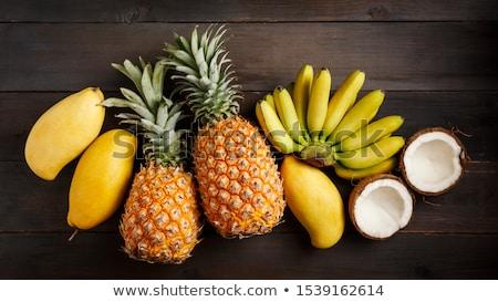 Stockfoto: Tropische · vruchten · Geel · creatieve · lay-out