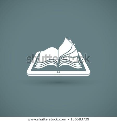 Open · boek · scherm · algemeen · digitale · bibliotheek - stockfoto © adamr