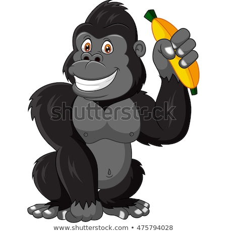 Cartoon goryl bananów ilustracja szczęśliwy Zdjęcia stock © cthoman
