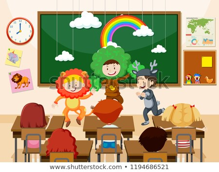 Children performing infront of class Stock photo © bluering