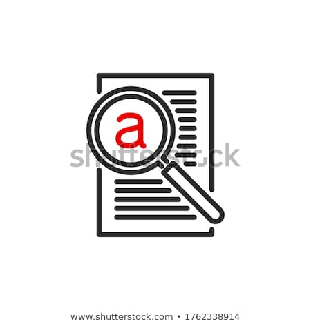 Magnifying glass looking for a mail isolated web icon Stock photo © Imaagio