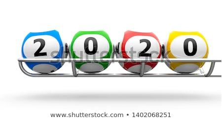 Nouvelle année loterie isolé blanche 3d illustration Photo stock © MikhailMishchenko