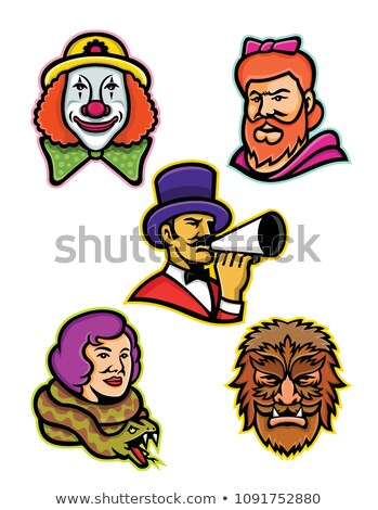 Circus Performers and Freaks Mascot Collection Stock photo © patrimonio