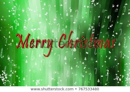 Vrolijk christmas gelukkig nieuwjaar partij ontwerpsjabloon poster Stockfoto © ikopylov