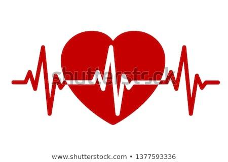 Latido del corazón medicina ilustración resumen corazón pulsante Foto stock © alexaldo