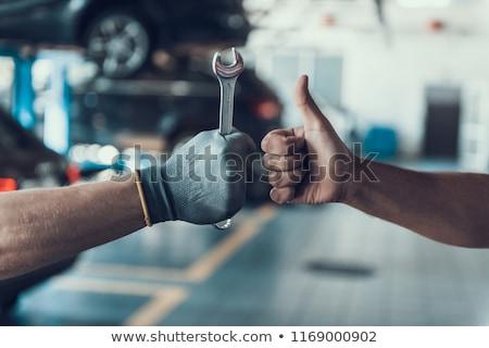 笑みを浮かべて メカニック 車 男 作業 ストックフォト © Minervastock