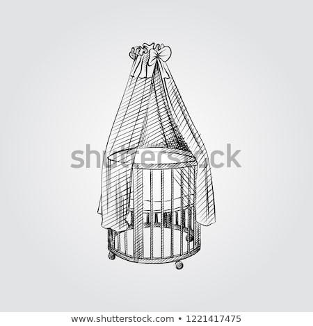Schets kamer pasgeboren baby ontwerp home Stockfoto © Arkadivna