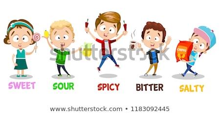 Stock fotó: Sense Of Taste Spicy Foods Illustration