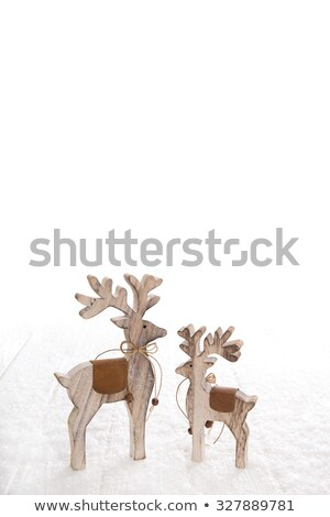 wooden reindeer on the snow Stock photo © nito