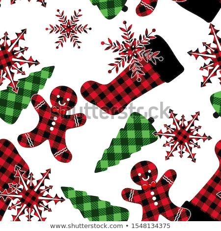 Noel zencefilli çörek erkekler kırmızı Stok fotoğraf © balasoiu