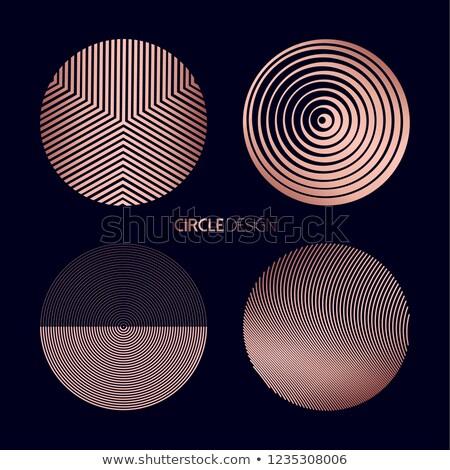 Miedź kółko mandala geometria zestaw Zdjęcia stock © cienpies