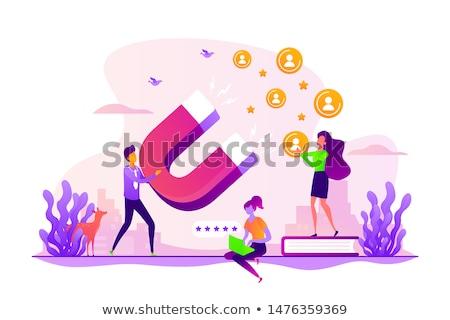 satisfação · lealdade · análise · satisfação · do · cliente · estrelas - foto stock © rastudio