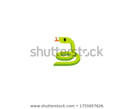 Cute serpiente Cartoon vector etiqueta icono Foto stock © robuart