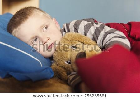 Cute año edad nino dormir casa Foto stock © Lopolo