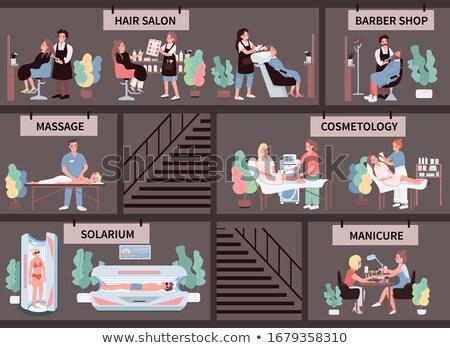 Massage procedure barbier ingesteld vector Stockfoto © robuart