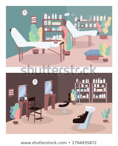 Spa косметических центр интерьер Cartoon баннер Сток-фото © robuart