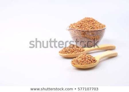 Méh virágpor propolisz fából készült merítőkanál izolált Stock fotó © ThreeArt
