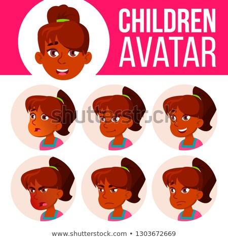 Indiano menina avatar conjunto criança vetor Foto stock © pikepicture